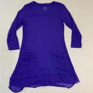LOGO Lori Goldstein Pocket Tunic Top XXS